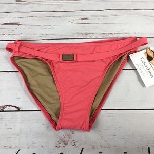 NWT Calvin Klein Perfectly Fit Bikini Bottom Coral